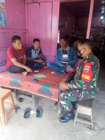 Laksanakan Komsos Dengan Masyarakat Binaan Dilakukan Danramil 18/SP Dan Anggota Jajaran Kodim 0207/Simalungun