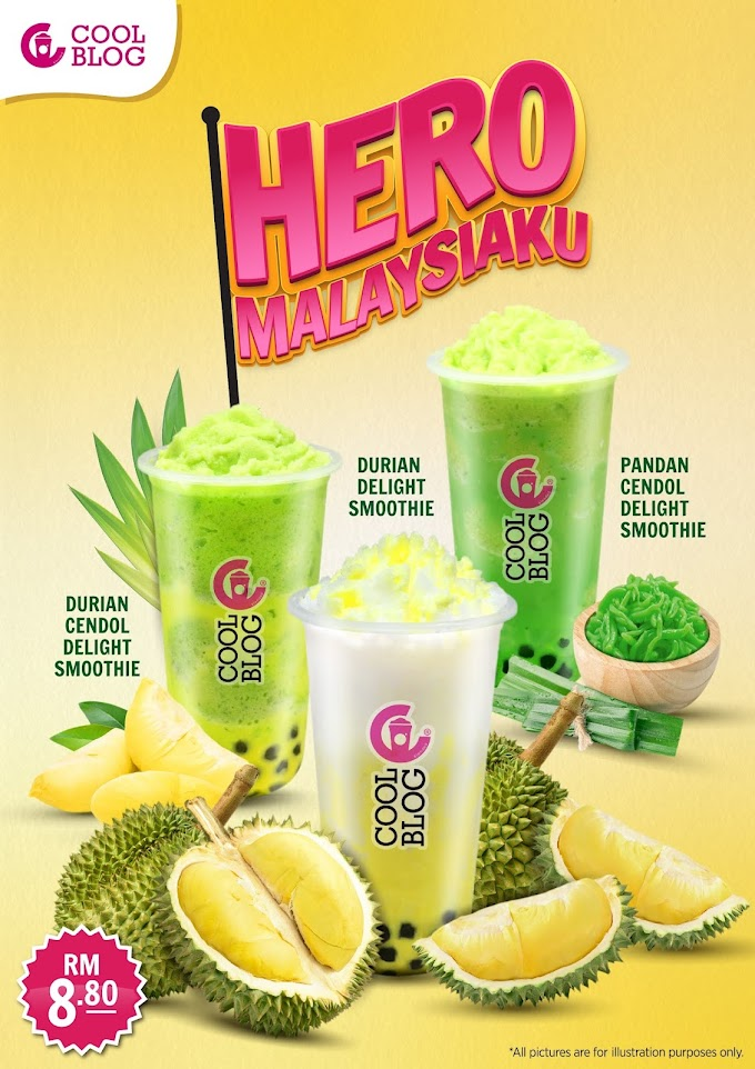 Coolblog Perkenal  Minuman Smoothie Perisa Tempatan, Durian, Pandan dan Cendol Sempena Kempen Hero Malaysiaku!