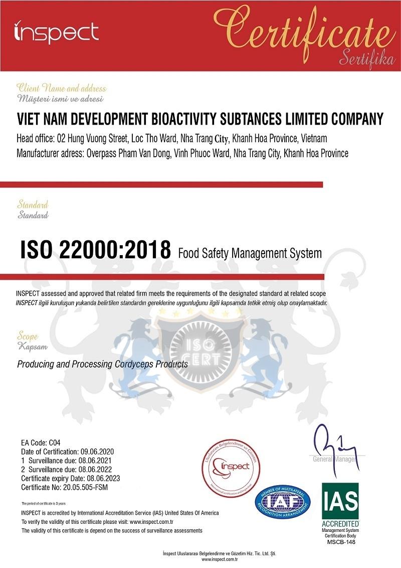 DV CẤP CHỨNG NHẬN ISO 22000 ATTP GIÁ TRỊ QUỐC TẾ TẠI ISO-CERT