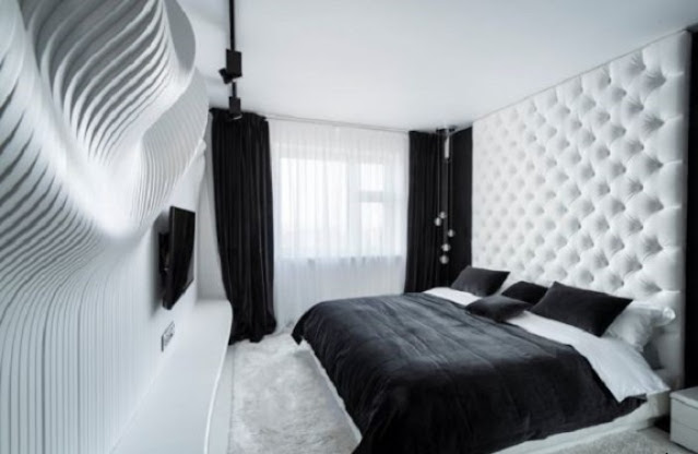 pictures of black and white bedroom designs