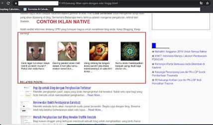 Contoh Iklan Native