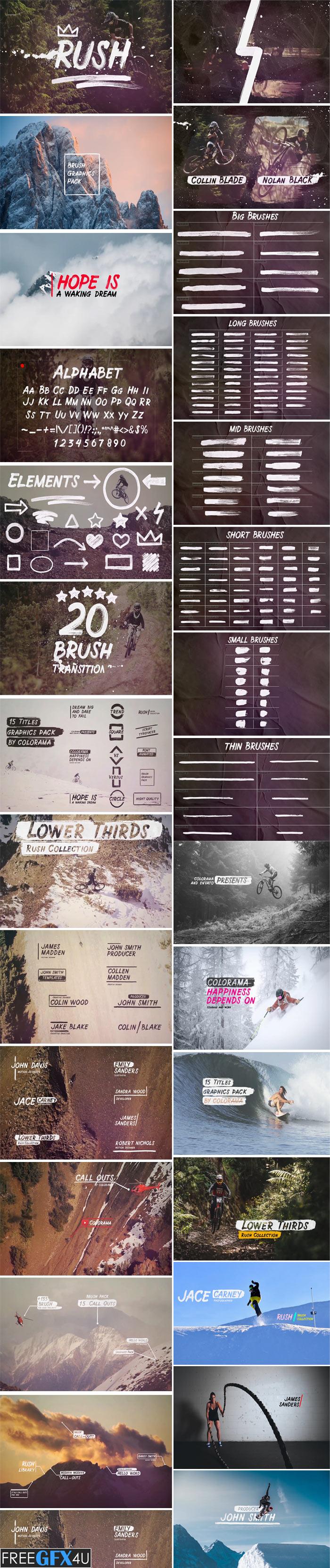 Rush Brush Graphics Pack