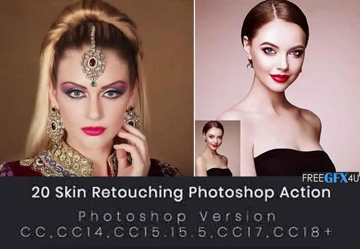20 Skin Retouching Photoshop Action