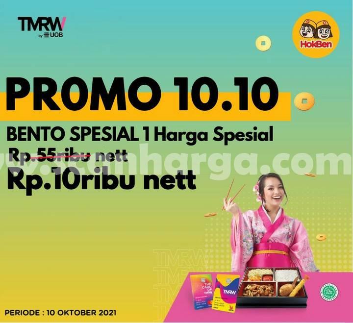 Promo HOKBEN 10.10 BENTO Spesial harga Rp. 10.000 nett