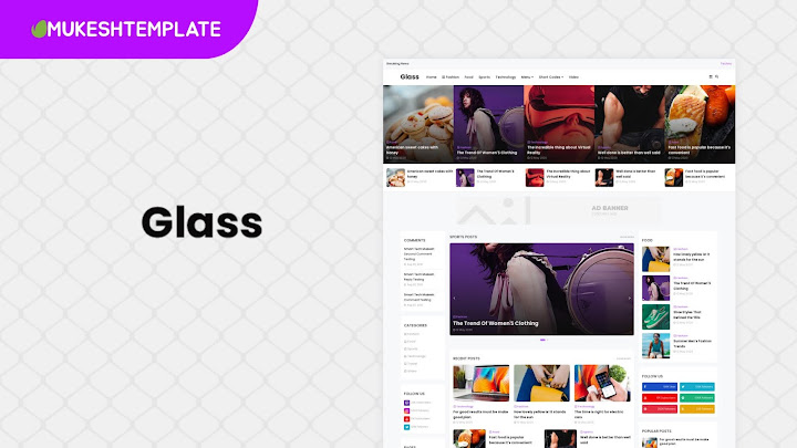 Glass - News & Magazine Blogger Template