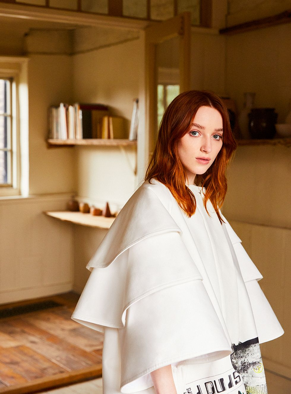 Cotton and silk coat, Louis Vuitton