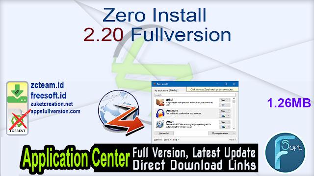 Zero Install 2.20 Fullversion