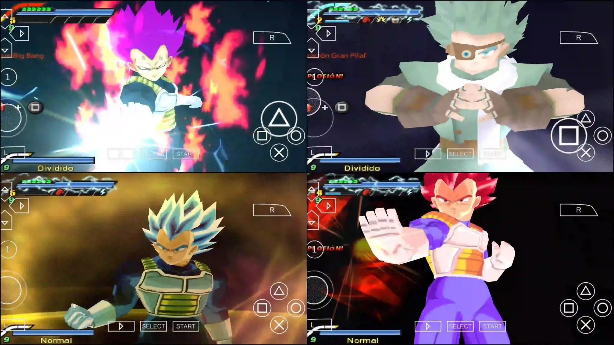 Dragon Ball Super Vegeta Ultra Ego PPSSPP