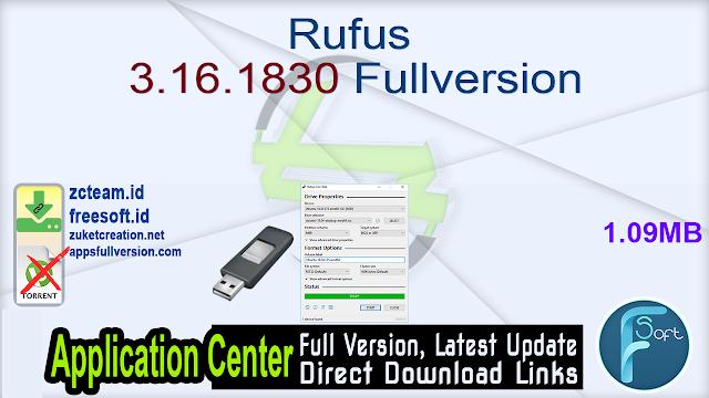 Rufus 3.16.1830 Fullversion