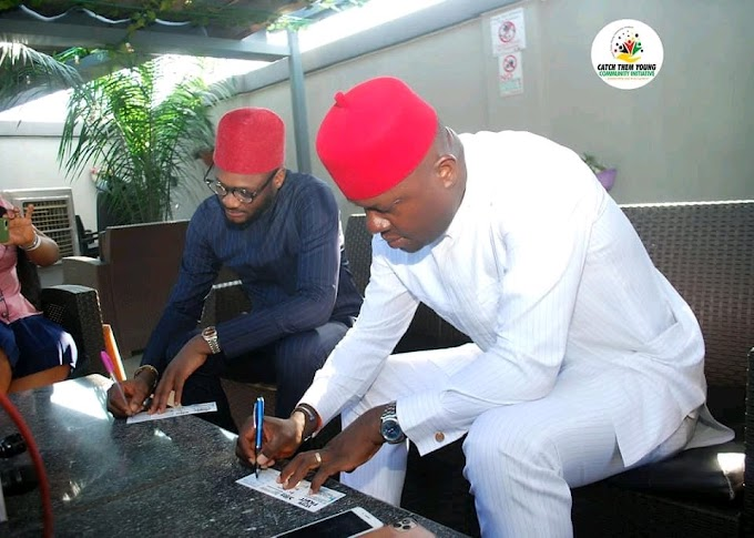 Vote Not Fight, 2Face Meets Ozigbo Ahead Of Anambra November Election.