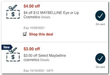 Maybelline CVS crt or App store Coupon (select CVS Couponers)