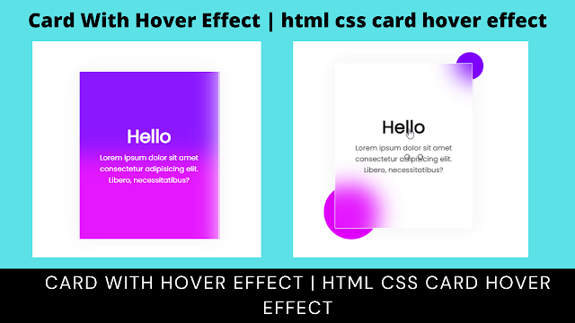 Card With Hover Effect | html css card hover effect - complete code