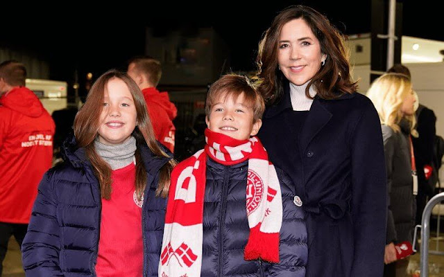 Crown Princess Mary and her twins Prince Vincent and Princess Josephine