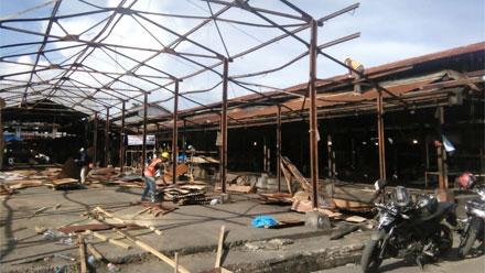Pasar Bawah Bukittinggi dalam Tahap Perbaikan
