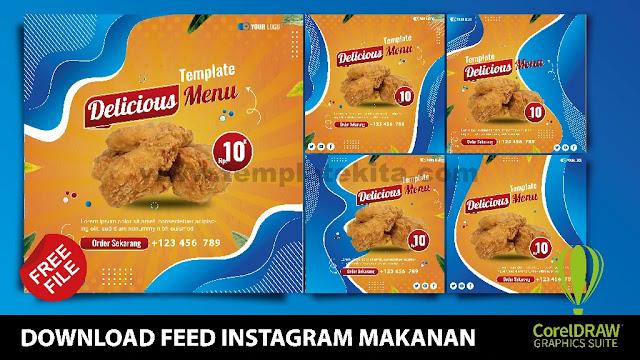 Download Feed Instagram Makanan Coreldraw Dan Photoshop