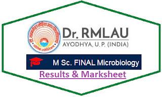 RMLAU M.Sc Final Microbiology Result 2021