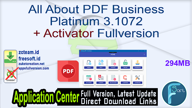 All About PDF Business Platinum 3.1072 + Activator Fullversion