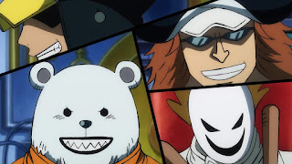 ワンピースアニメ 988話 ワノ国編 | ハートの海賊団 ベポ シャチ ペンギン | ONE PIECE Heart Pirates