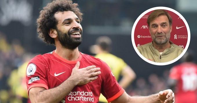 Klopp reveal major improvementr in Salah game this season