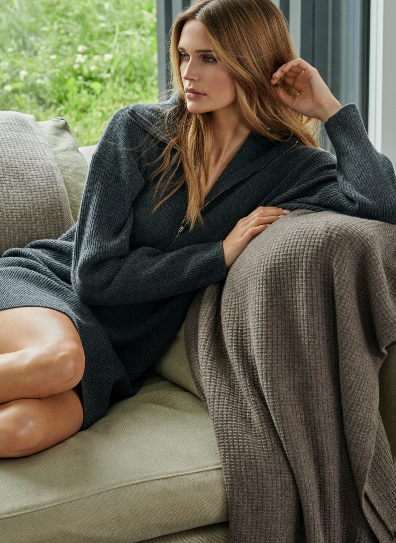 NAKEDCASHMERE features Aliana dress in NAKED in October 2021 campaign