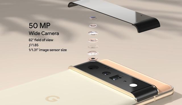 Both Pixel 6 and 6 Pro have a massive new 1/1.3-inch, 50-megapixel sensor