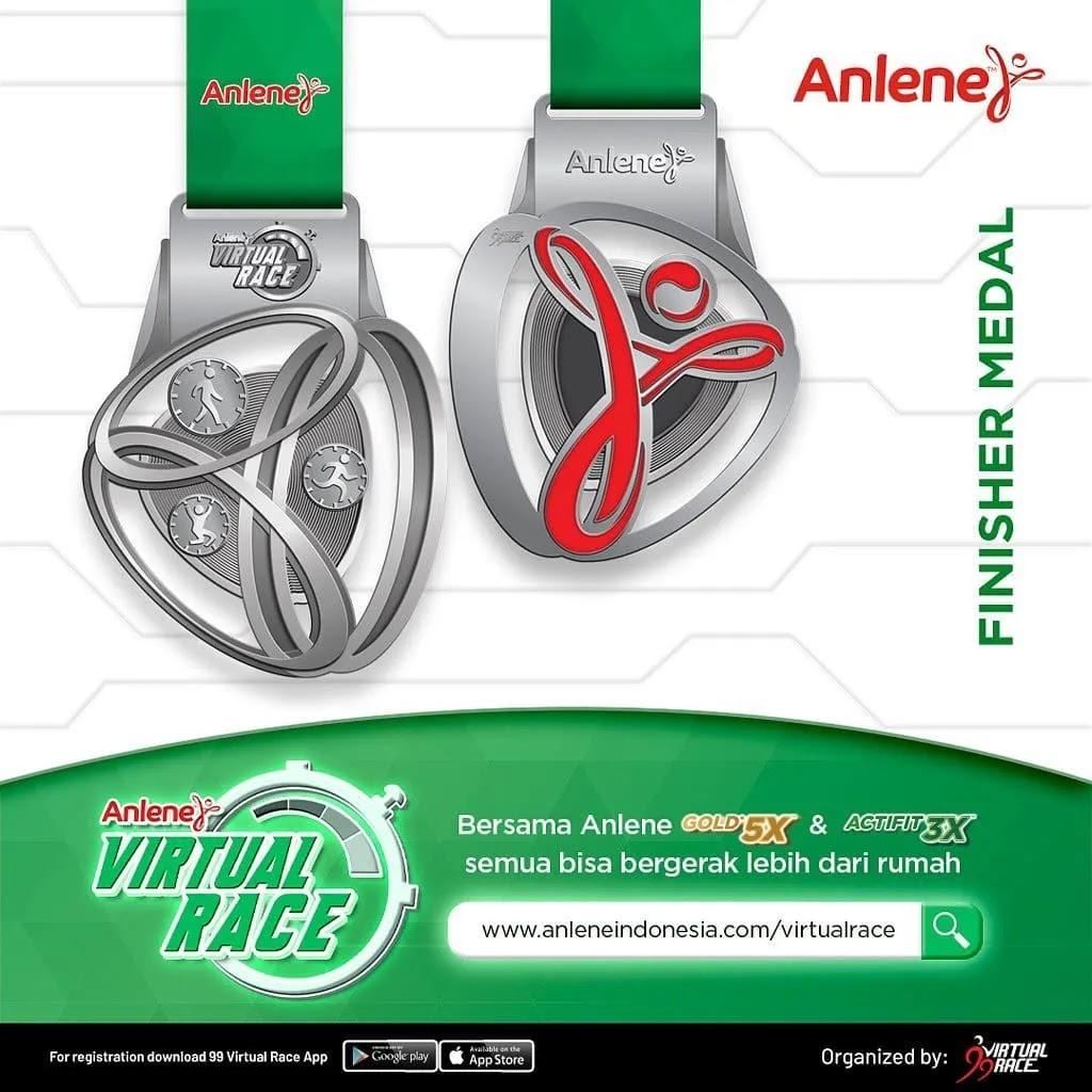 Medali � Anlene Indonesia Virtual Race • 2021