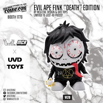 New York Comic Con 2021 Exclusive Evil Ape Fink Death Edition Vinyl Figure by MCA v UVD Toys x VLTD