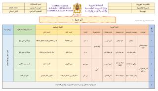 التوزيع المجالي كتابي في اللغة العربية المستوى الثاني 2021 2022