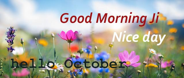 Good Morning Hello October