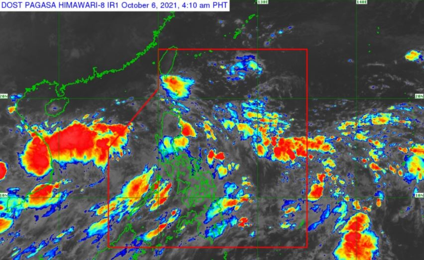 Satellite image of 'Bagyong Lannie' as of 4:10 am, October 6, 2021