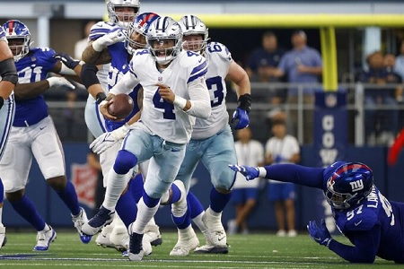 COWBOYS - GIANTS (44-20): TOO EASY FOR DALLAS