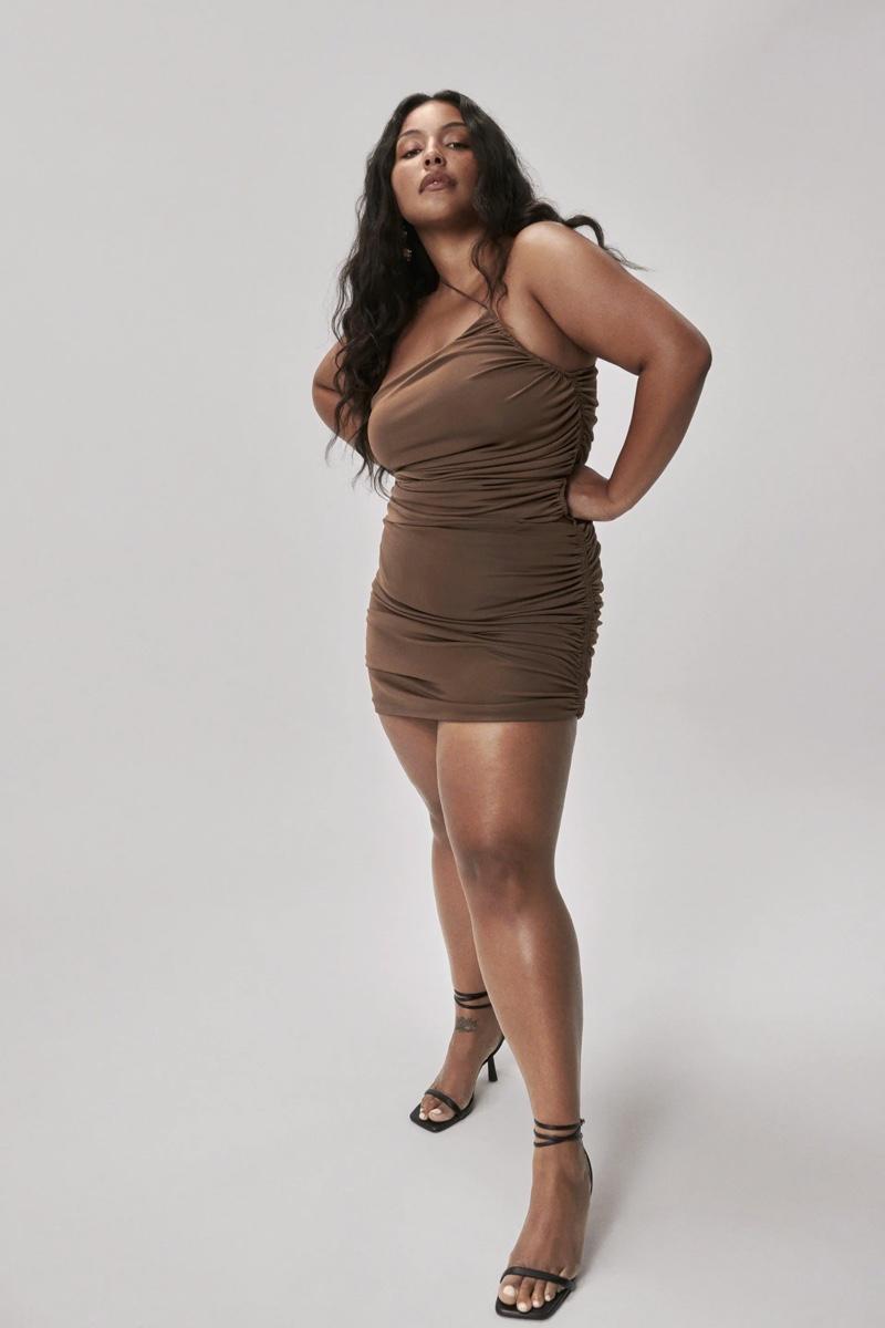 Zara Draped Asymmetrical Dress.