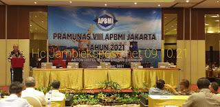 Ketua Umum DPP APBMI Secara Resmi Membuka Pramunas VIII APBMI Jakarta Di Jambi.