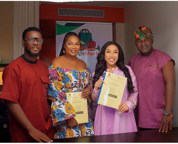 Actress Tonto Dikeh bags multi-million Naira deal with an innovative brand (Photos)