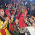 अद्भुत रहा डांडिया गरबा नृत्य, प्रांगण रंगमंच के कलाकारों ने बांधा शमां