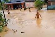 Sungai Batang Natal dan Perlampungan Meluap, Sejumlah Desa di Madina Terendam Banjir