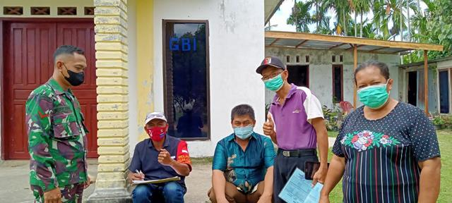 Pendataan Warga Belum Vaksin, Personel Jajaran Kodim 0207/Simalungun Turut Dampingi