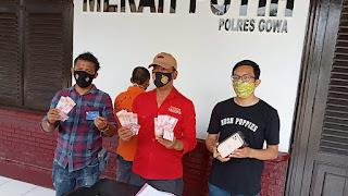 Edarkan Uang Palsu Di Gowa, Seorang Pria Asal Riau Diringkus Polisi