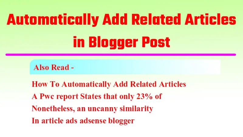 How to Add Related Posts in Blogger Post   newshank.com