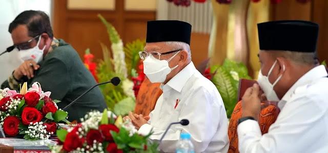 Ma'ruf Amin Sebut Penanggulangan 5 Kabupaten Alami Kemiskinan Ekstrem di Maluku