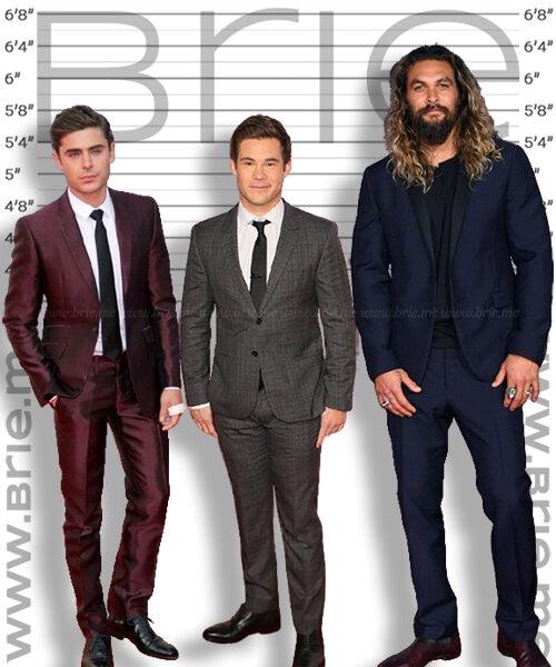 Adam DeVine height comparison with Jason Momoa and Zac Efron