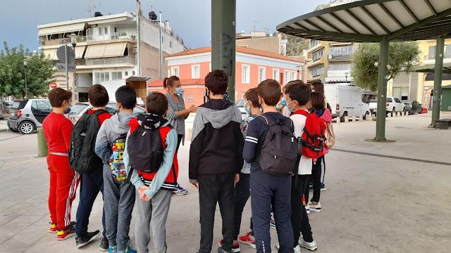 """Μαθητές """"Συνομίλησαν με την ιστορία στους δρόμους του Άργους"""""""