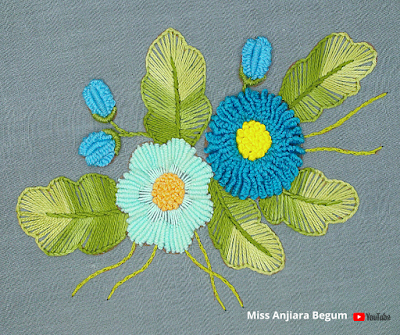 Very Cute Flower Embroidery, Simple and Beautiful Hand embroidery Design