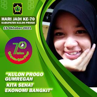 Twibbon atau Bingkai Foto Hari Jadi Kabupaten Kulon Progo Yogyakarta, 15 Oktober 2021