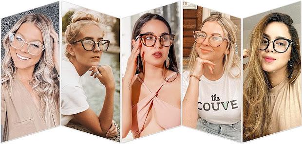 Trendy Clear Cat Eye Glasses for Women