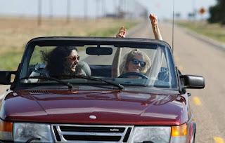 Christos Dorje Walker's ex-wife driving a car