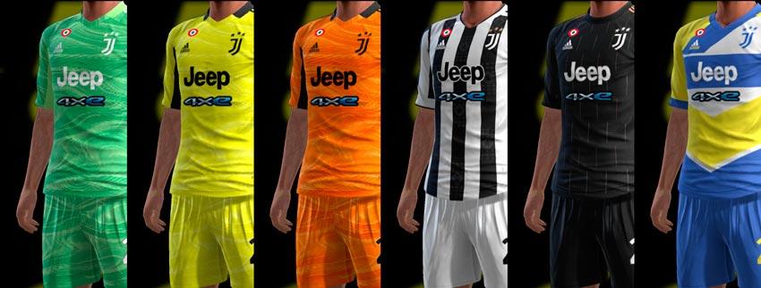 Juventus FC 21-22 Kits For PES 2013