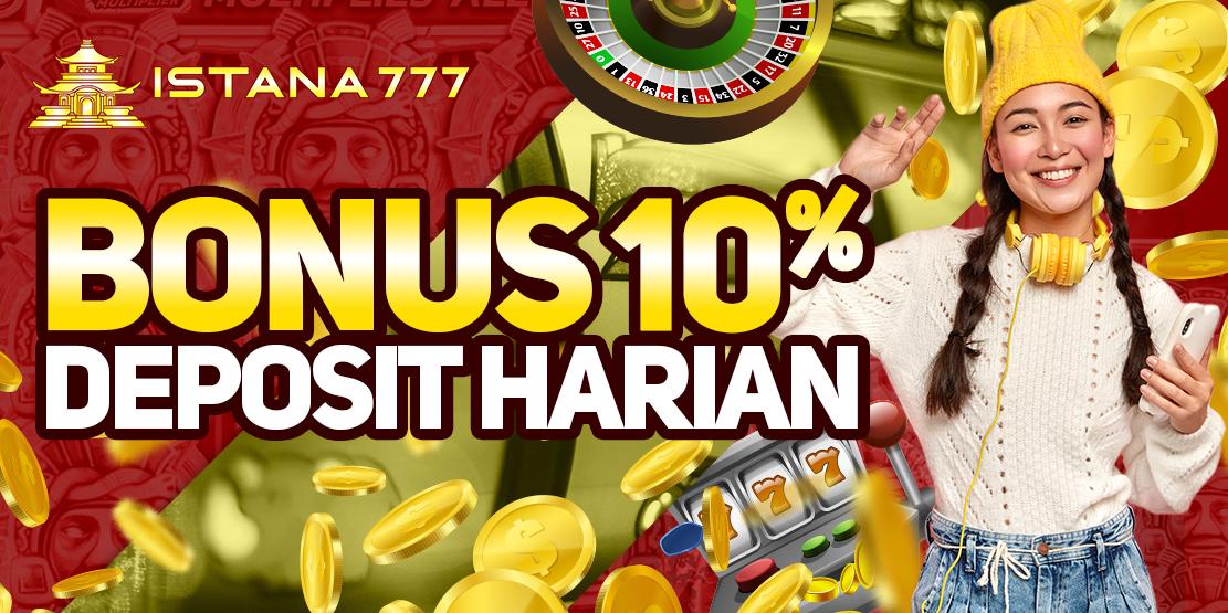 Bonus Deposit Harian 10%