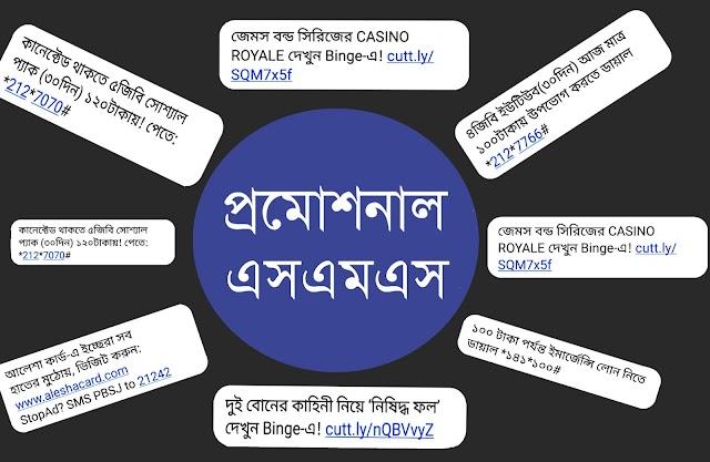 মোবাইলে আসা প্রমোশনাল এস এম এস বন্ধ করুন | Stop Promotional SMS