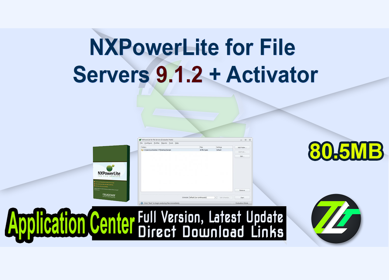 NXPowerLite for File Servers 9.1.2 + Activator